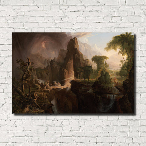Thomas Cole, Old Masters Fine Art Print, Expulsion from the Garden of Eden