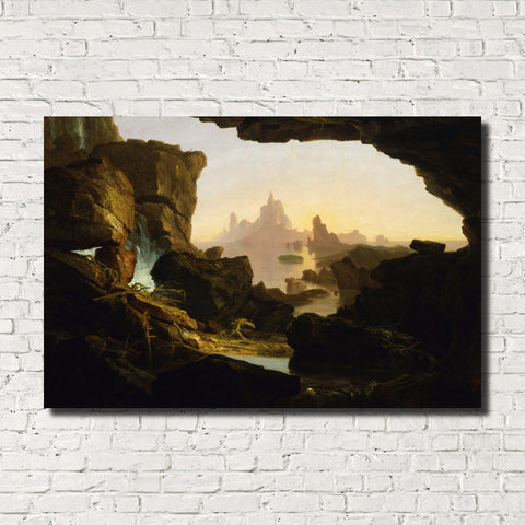 Thomas Cole, Old Masters Fine Art, Subsiding of the Waters of the Deluge