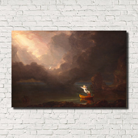 Copy of Thomas Cole, Old Masters Fine Art Print, The Voyage of Life: Old Age