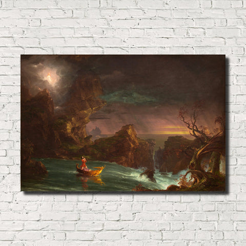 Thomas Cole, Old Masters Fine Art Print, The Voyage of Life: Manhood