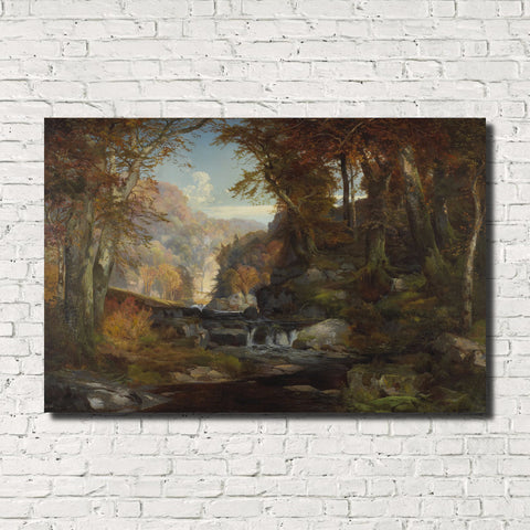 Thomas Moran, Old Masters Classic Landscape Print : Tohickon Creek