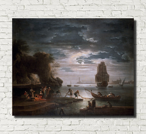 Claude Joseph Vernet, Fine Art Print : The Night