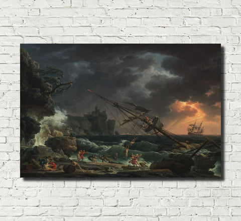 Claude Joseph Vernet, Fine Art Print : The Shipwreck
