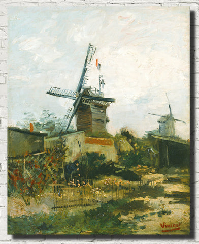 Vincent Van Gogh Fine Art Print, Windmills on Montmartre
