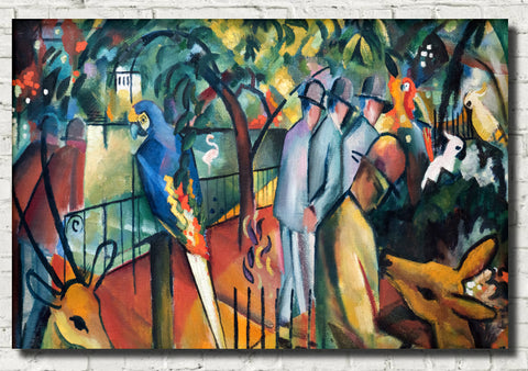 August Macke Abstract Fine Art Print, Zoological Garden I