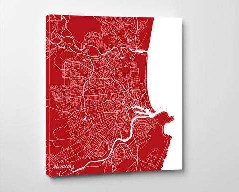 Aberdeen City Street Map Print Custom Wall Map - OnTrendAndFab