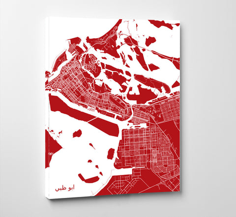 Abu Dhabi City Street Map Print Modern Art Poster Home Decor