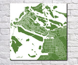 Abu Dhabi City Street Map Print Custom Wall Map Poster - OnTrendAndFab