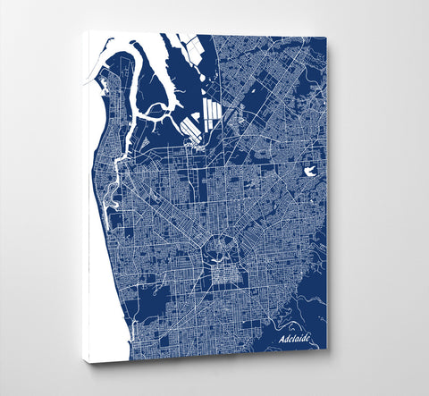 Adelaide City Street Map Print Feature Wall Art Poster