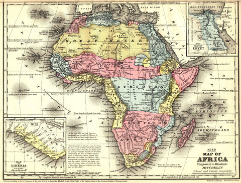 Africa Map Print Vintage African Poster Old Map as Art OnTrendAndFab