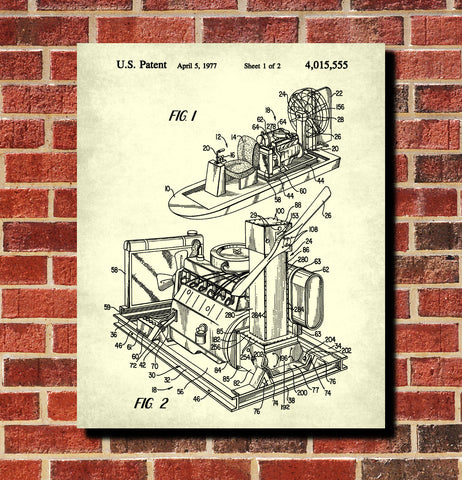 Airboat Blueprint Art Nautical Patent Print Sailing Poster