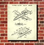 A10 Warthog Patent Print Aircraft Blueprint Flying Poster