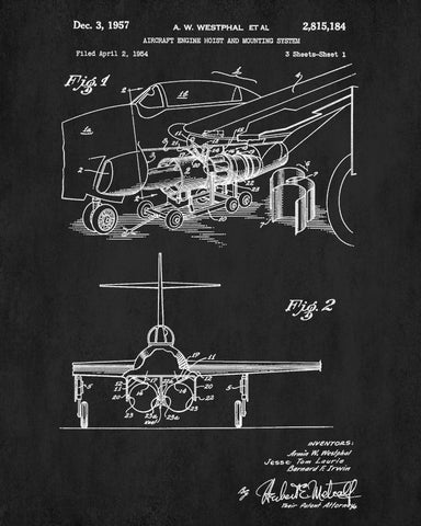 Aircraft blueprint art engine hoist patent print wall art poster aircraft blueprint art engine hoist patent print wall art poster malvernweather Gallery