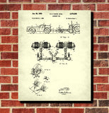 Aircraft Tug Patent Print Ground Crew Flying Poster