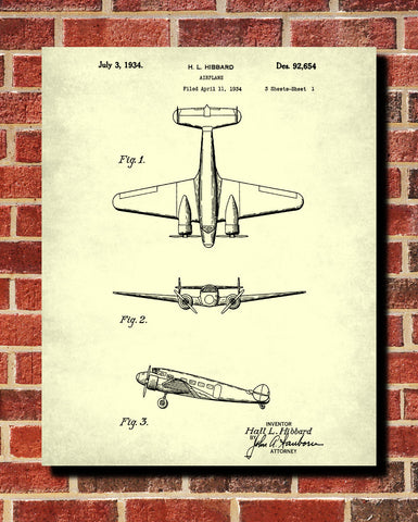Aircraft patent art blueprint wall art poster ontrendandfab aircraft patent art blueprint wall art poster ontrendandfab malvernweather Gallery