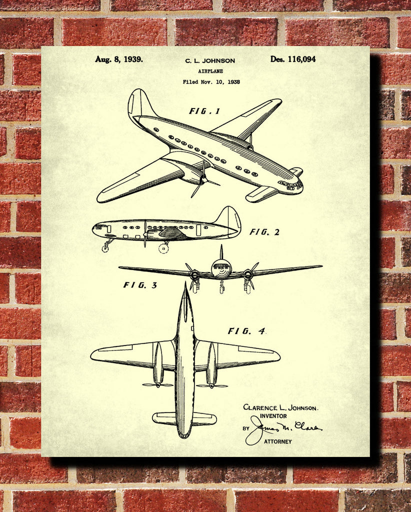Aircraft patent art blueprint poster wall art ontrendandfab aircraft patent art blueprint poster wall art malvernweather Gallery