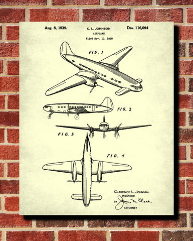 Aircraft Patent Art Blueprint Poster Wall Art - OnTrendAndFab