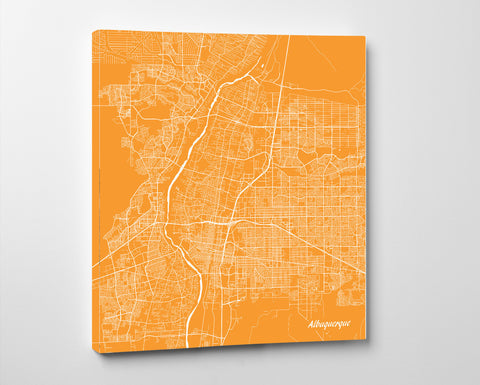 Albuquerque, New Mexico City Street Map Print Custom Wall Map