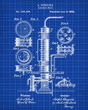 Alcohol Still Blueprint Moonshine Print Wall Art Poster - OnTrendAndFab