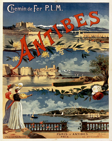 Antibes France Print Vintage Travel Poster Art - OnTrendAndFab