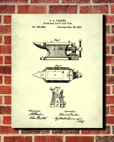 Anvil patent art print blacksmith blueprint poster ontrendandfab anvil patent art print blacksmith blueprint poster ontrendandfab malvernweather Image collections