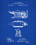 Anvil Patent Art Print Blacksmith Blueprint Poster - OnTrendAndFab