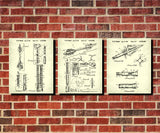 Archery Patent Prints Set 3 Arrow Posters Archer Blueprints