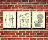 Archery Patent Prints Set 3 Archer Blueprint Posters