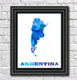 Argentina Map Print Outline Wall Map of Argentina