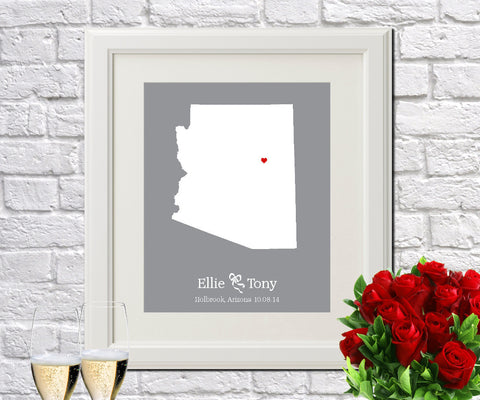 Arizona Custom Wedding Engagement Art Print