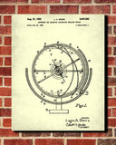 Astronomical Globe Blueprint Science Patent Print
