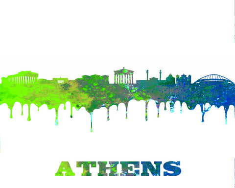 athens skyline poster