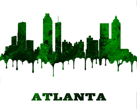 Atlanta Print City Skyline Wall Art Poster Georgia USA - OnTrendAndFab