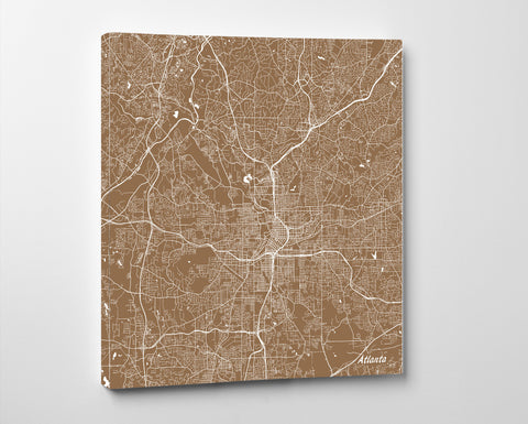 Atlanta, Georgia City Street Map Print Custom Wall Map