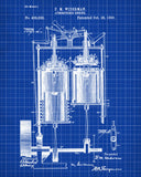 Atmospheric Engine Blueprint Vintage Engineering Patent - OnTrendAndFab