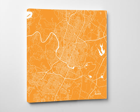 Austin City Street Map Print Custom Map Poster Austin Texas