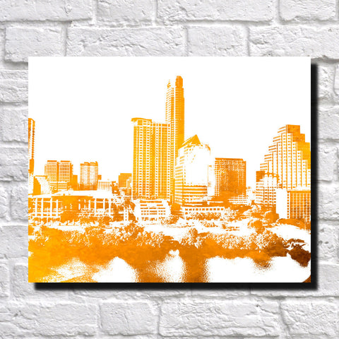 Austin Skyline Poster City Landscape Art Print Texas Home Decor