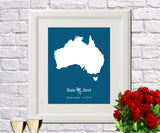 Australia Custom Wedding Engagement Art Print