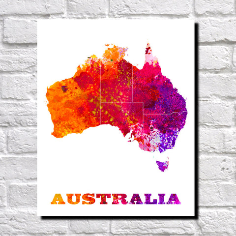 Australia Map Print Outline Wall Map of Australia