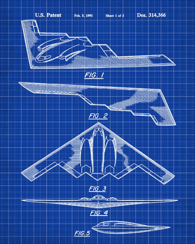 B2 bomber aircraft blueprint art patent print wall art poster b2 bomber aircraft blueprint art patent print wall art poster ontrendandfab malvernweather Choice Image