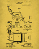 Barber Chair Patent Print Hairdressing Wall Art Poster - OnTrendAndFab