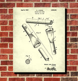 Barbers Neck Duster Patent Print Hairdressing Wall Art Poster