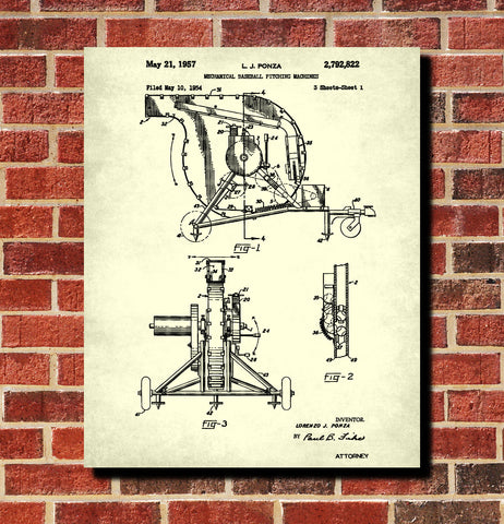Products tagged categoriespatent art page 6 ontrendandfab baseball pitching machine patent print sports blueprint poster malvernweather Gallery