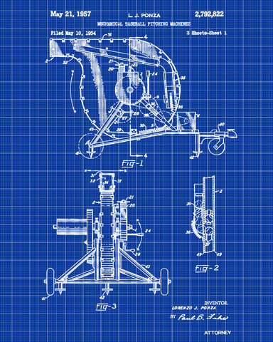Baseball pitching machine patent print sports blueprint poster baseball pitching machine patent print sports blueprint poster malvernweather Image collections