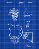 Basketball Hoop Patent Print Sports Blueprint Art Poster