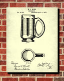 Beer Patent Print Cafe Art Bar Poster Pub Wall Poster - OnTrendAndFab