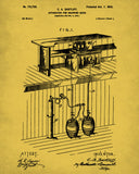 Beer Patent Print Cafe Poster Pub Art Bar Wall Poster