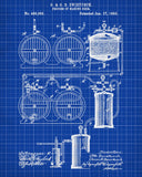 Beer Brewing Blueprint Bar Poster Cafe Art - OnTrendAndFab