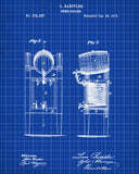 Beer Cooler Blueprint Bar Poster Cafe Art