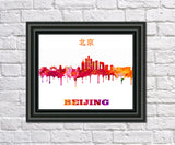 Beijing Print City Skyline Wall Art Poster China - OnTrendAndFab